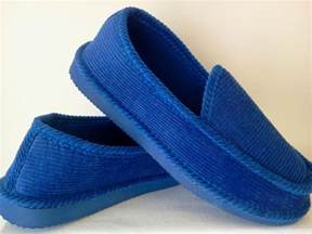 royal blue corduroy house shoes loox slippers new size 8 9