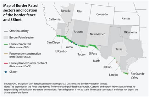 us mexico border wall map securing our borders center for american progress