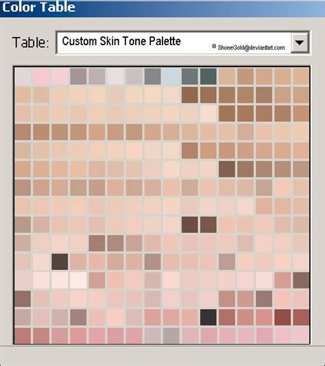 72 best images about skin tones on code for charts and tone list