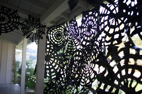 Halloween Decorations That You Can Make At Home trash bag spider webs easy halloween decor spooky