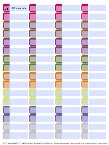 post it file folder labels template choice image