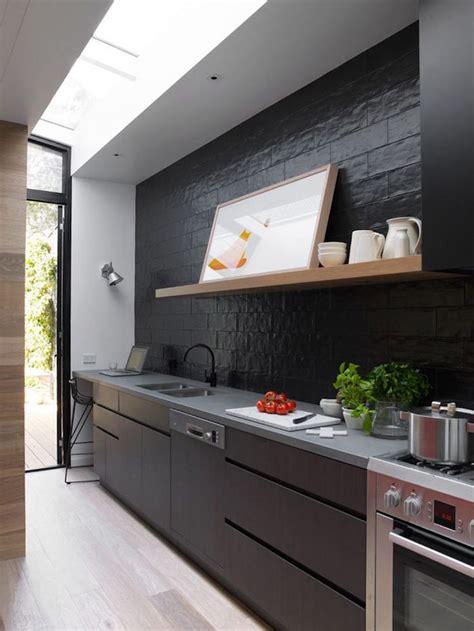 cuisine noir mat et bois 1001 id 233 es cuisine noir mat et bois 233 l 233 gance et sobri 233 t 233
