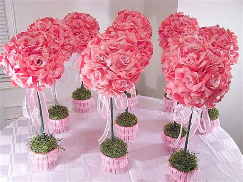 artificial flower centerpieces for wedding 10 pink topiaries silk flower table centerpieces made