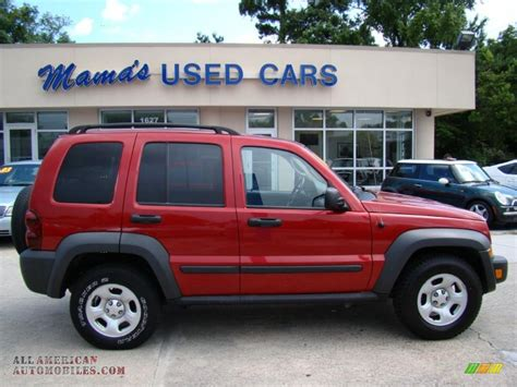 red jeep liberty 2007 2006 jeep liberty sport in inferno red pearl photo 6