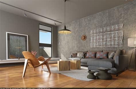 living room interior rendering  behance