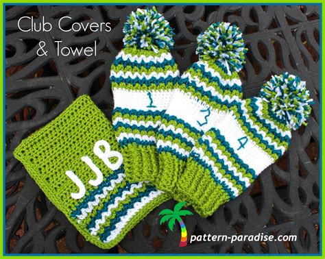 crochet patterns for drummers crochet club free crochet pattern golf club covers and towel