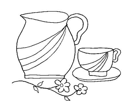 imagenes para colorear jarra dibujo de jarra y taza para colorear dibujos net