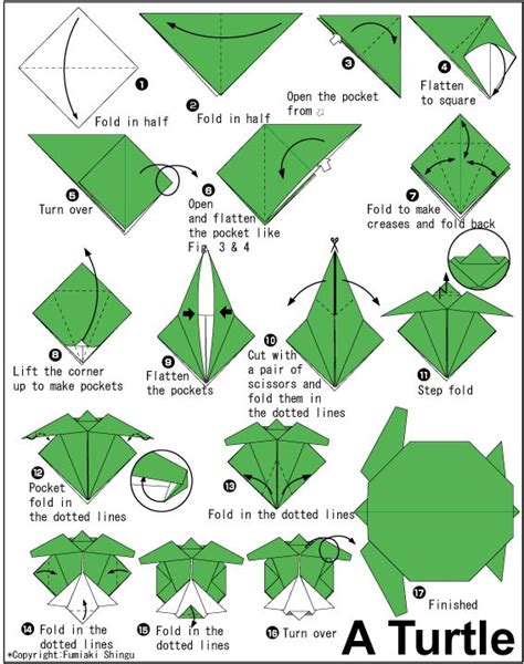 Origami Tortoise - how to do origami how to make origami turtle