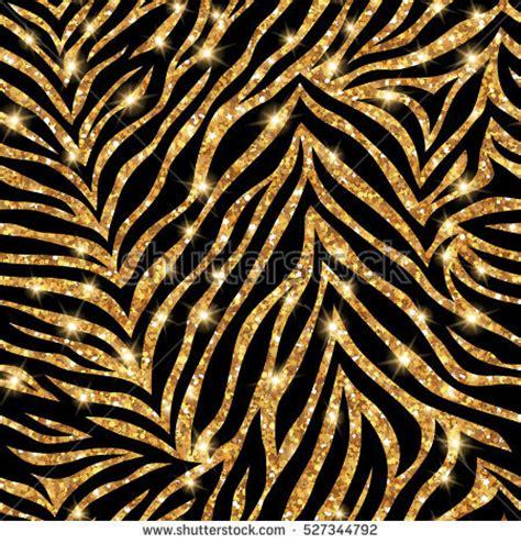 gold zebra wallpaper seamless gold zebra pattern vector illustration stock