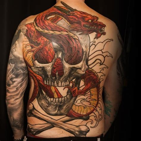 tattoo dragon and skull back tattoos and designs page 10