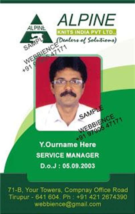 employee id card design sles 1000 images about idcard templates on pinterest