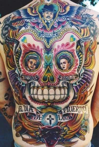 dia de muertos tattoo el dia de los muertos on back