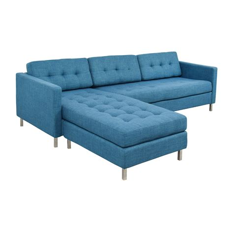 cb2 loveseat 33 off cb2 cb2 ditto ii peacock sectional sofa sofas