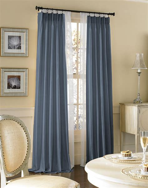 pleated curtains and drapes dupioni silk pinch pleat luxury curtain panel