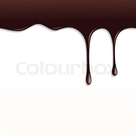 Melted Dark Chocolate Dripping on White Background | Stock ... Dripping Chocolate Background