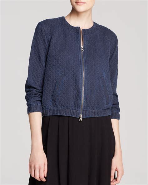 Eileen Fisher Quilted Jacket by Eileen Fisher Exclusive Quilted Denim Jacket In Blue Lyst