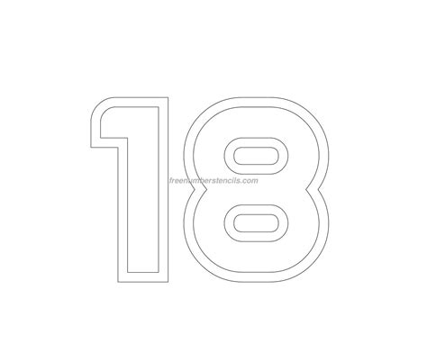 number 18 template free jumbo 18 number stencil freenumberstencils