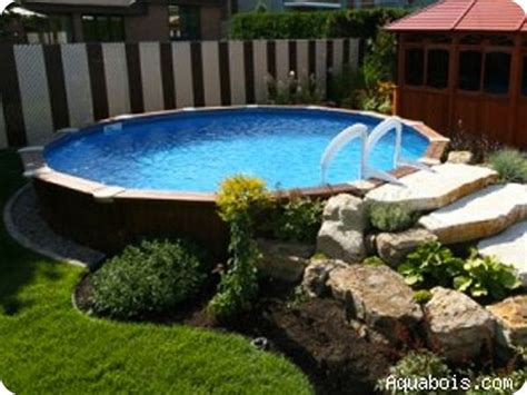 backyard landscaping above ground pool aboveground pool blog posts