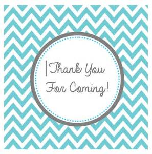 Thank You For Coming To My Template by Turqouise Chevron Thank You For Coming Tag By