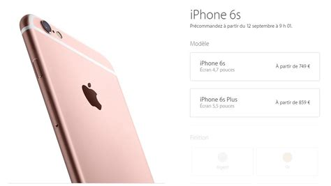 apple annonce l iphone 6s et l iphone 6s plus