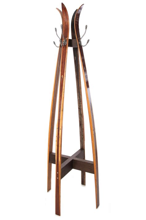 coat stand vintage ski free standing coat stand