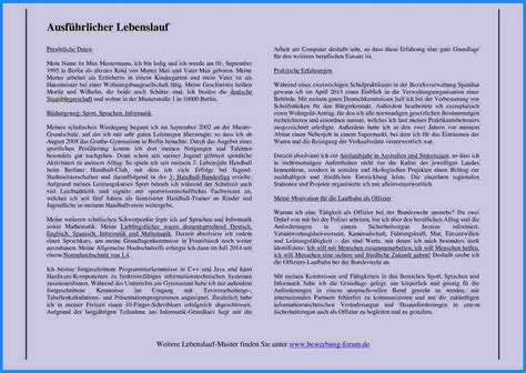 Ausfuhrlicher Lebenslauf Bundeswehr handgeschriebener ausf 252 hrlicher lebenslauf muster
