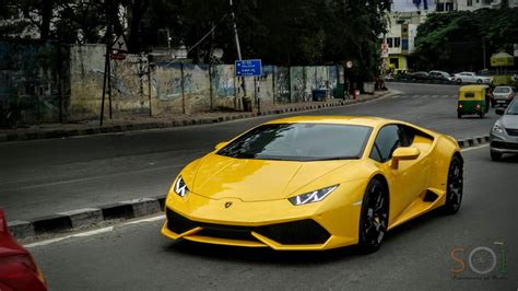 yellow lamborghini yellow lamborghini huracan in bangalore youtube