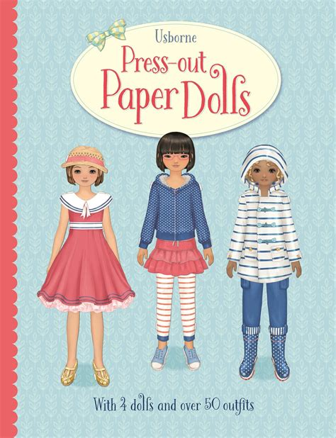 paper dolls book five books press out paper dolls at usborne children s books