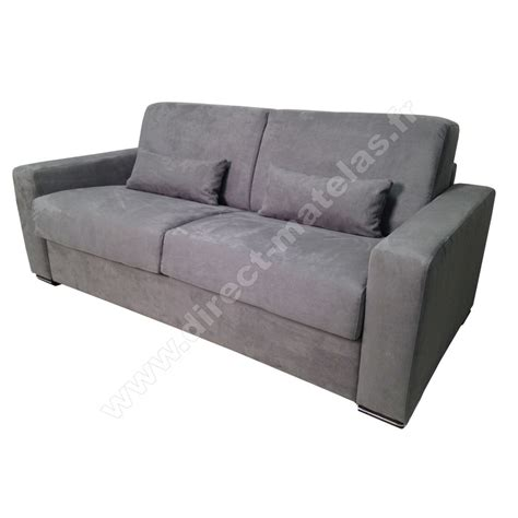 m canap駸 canap 233 convertible d m michel micro gris clair couchage