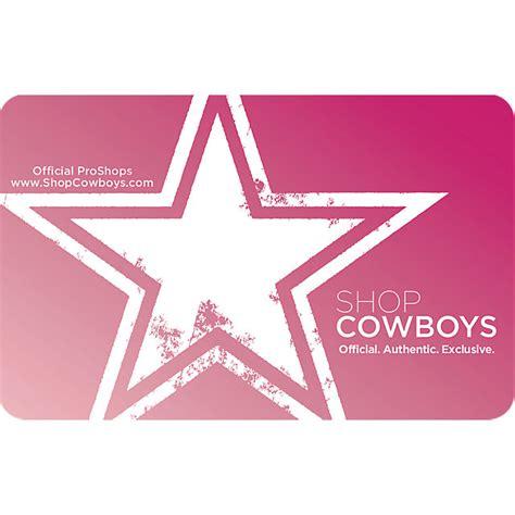Cowboys Gift Card - womens cowboys catalog dallas cowboys pro shop