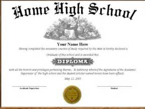 High School Diploma Templates by High School Diploma Template Cyberuse