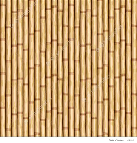 Pole Curtain Rods Bamboo Wall Stock Illustration I1443262 At Featurepics