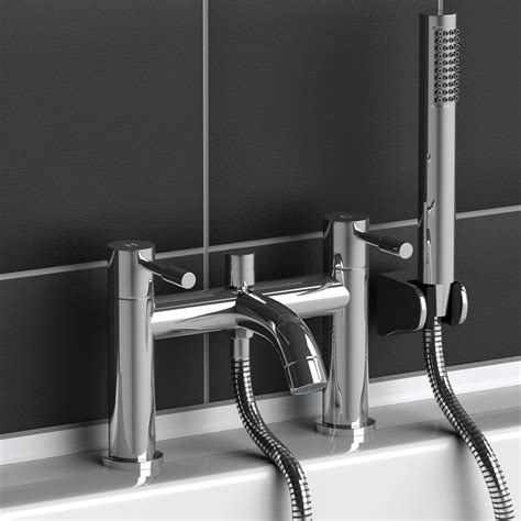 Bathroom Mixer Taps With Shower Attachment Bath Filler Tap Taps Modern Chrome Plated Brass With