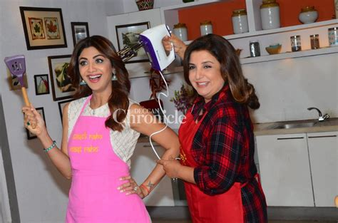 Shilpa Shetty Is The New Bond by Shilpa And Farah Bond Their Culinary Skills For