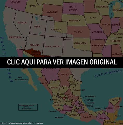 map de mexico y usa mapa de m 233 xico y estados unidos mapa de m 233 xico