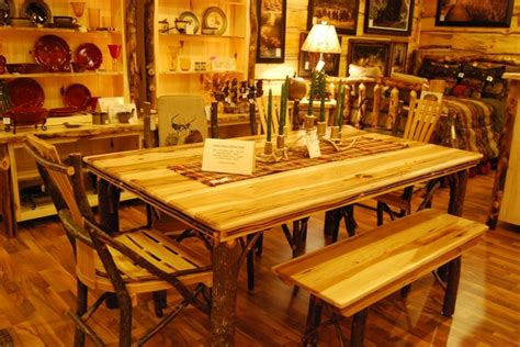 log cabin dining room furniture amish made hickory 72 quot dining room table by cabin
