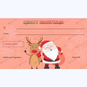 Christmas Gift Certificate Template 31 Word Layouts Santa Gift Certificate Template