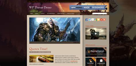 Wordpress Themes Free World Of Warcraft | premium wordpress theme world of warcraft new