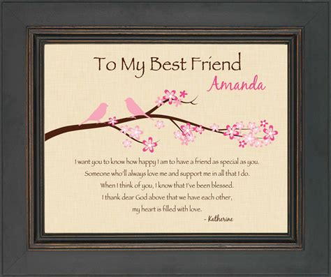 best personalized gifts best friend gift personalized print for best friend 8x10