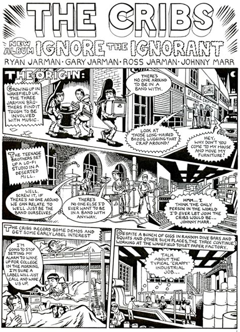 History Of Cribs by The Quietus Features A Jeffrey Lewis Comic The