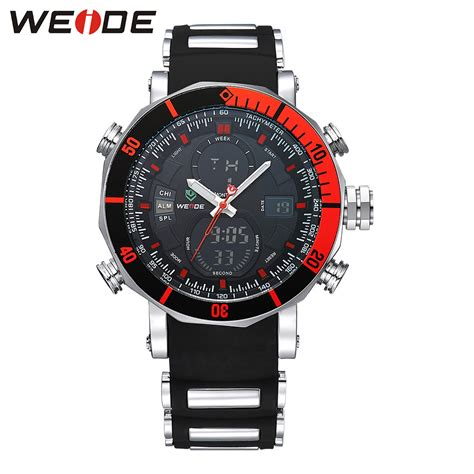 weide jam tangan analog pria dual time zone silicone wh5203 jakartanotebook