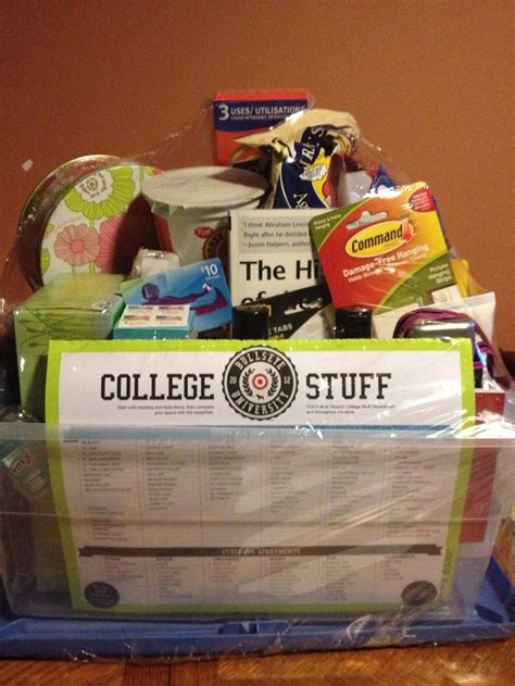 gift baskets for college students pin by christine cortellesso on senior year graduation