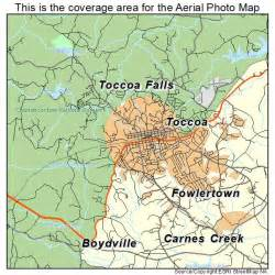aerial photography map of toccoa ga