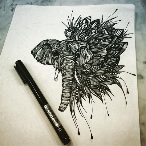 flores tattoo designs elefante flores design elephant flowers draw