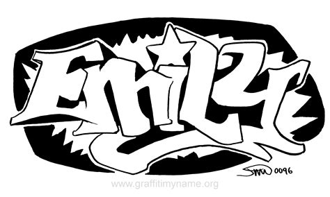 coloring pages with the name emily emily graffiti name coloring page coloring home