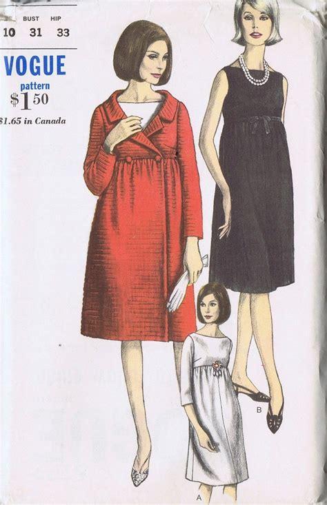 vintage maternity pattern vintage maternity coat dress 60s sewing pattern vogue 6279