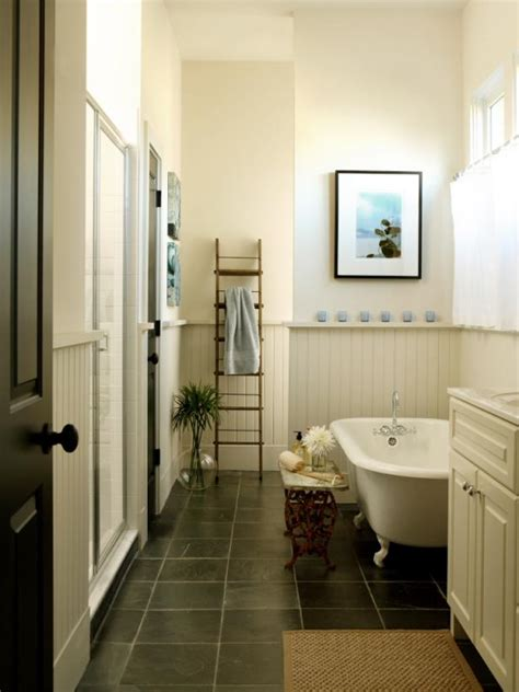 Cottage Bathroom Look Add This Bathroom Ladder Shelf Homesfeed Photo Page Hgtv