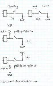 pull up resistor explained using push button switch with arduino uno pull up vs pull tech arduino