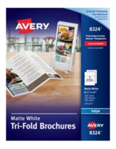 Avery Printable White Tri Fold Brochures Office Depot Flyer Templates