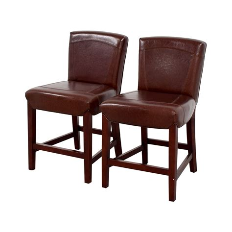 Crate And Barrel Leather Bar Stools by 90 Crate Barrel Crate Barrel Brown Leather Bar